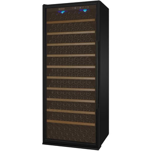 "32"" Wide Vite Series 305 Bottle Single Zone Black Right Hinge Wine Refrigerator (YHWR305-1BRT) - Bennet Hill"