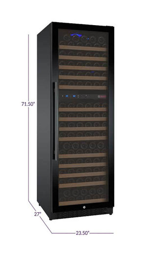 "24"" Wide FlexCount Series 172 Bottle Dual Zone Stainless Steel Right Hinge Wine Refrigerator ( VSWR172-2SSRN) - Bennet Hill"