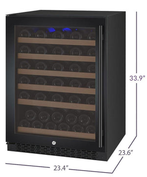 "24"" Wide FlexCount Series 56 Bottle Dual Zone Stainless Steel Right Hinge Wine Refrigerator (VSWR56-2SSRN) - Bennet Hill"
