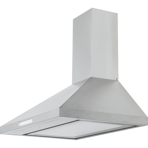 "Chambers 30"" Premium SS Pyramid Wall Mount Hood, 500 CFM, Baffle Filters, LED lighting - Bennet Hill"