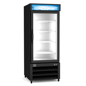 Kelvinator REFRIGERATION EQUIPMENT MERCHANDISER FREEZER, 23 CU.FT, 1 GLASS DOOR, BLACK (R290) - Bennet Hill