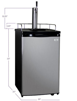 KEGCO HOME BREW KEGERATOR - BLACK CABINET AND STAINLESS STEEL DOOR(HBK199S-1K) - Bennet Hill
