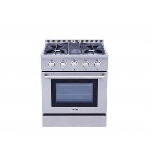 THOR Professional 30 Inch Dual Fuel Range in Stainless Steel ( HRD3088U ) - Bennet Hill