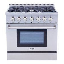 THOR  36 Inch Professional Dual Fuel Range in Stainless Steel ( HRD3606U ) - Bennet Hill