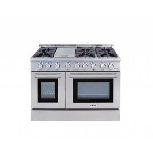 THOR 48 Inch Professional Dual Fuel Range in Stainless Steel ( HRD4803U ) - Bennet Hill