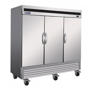"IKON IB81F-DV 81"" 3-Door Solid Reach-In Freezer - Bottom Mount - Bennet Hill"