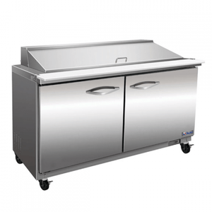 "IKON ISP48 48"" 2-Section Refrigerated Sandwich Prep Table - Bennet Hill"