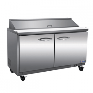 "IKON ISP61 61"" 2-Section Refrigerated Sandwich Prep Table - Bennet Hill"