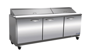 "Ikon ISP72 Triple Door 72"" Refrigerated Sandwich Prep Table - Bennet Hill"
