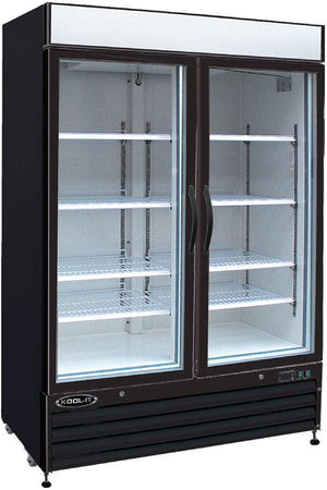"Kool-It KGF-48 54"" Black Swing Glass Door Merchandiser Freezer - Bennet Hill"