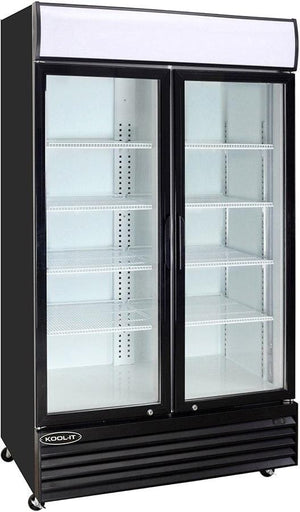 "Kool-It KGM-36 44"" 2 Swing Glass Door Merchandiser Refrigerator - Bennet Hill"