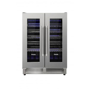 THOR 42 Bottle Dual Zone French Door Built-in Wine Cooler ( TWC2402 ) - Bennet Hill
