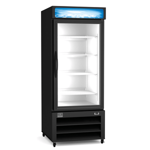Kelvinator REFRIGERATION EQUIPMENT MERCHANDISER REFRIGERATOR, 12 CU.FT - 1 GLASS DOOR, BLACK (R290) - Bennet Hill