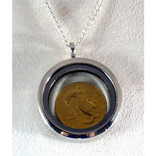 Collectable Ferret or Weasel Penny Locket Necklace 1435 - celtic-mink-jewelry