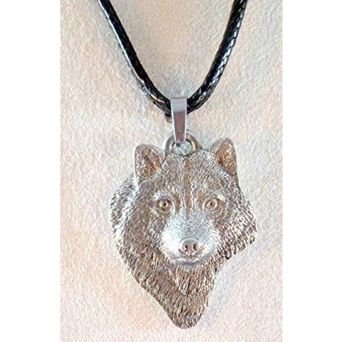 Wolf Head Necklace 1663 - celtic-mink-jewelry