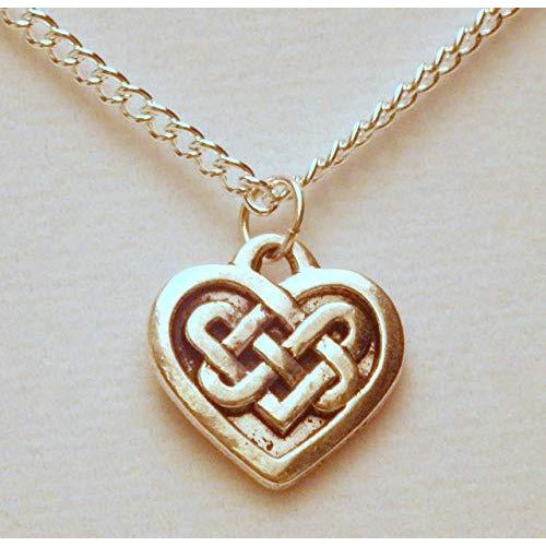 Celtic Knotwork Heart Necklace 1385 - celtic-mink-jewelry