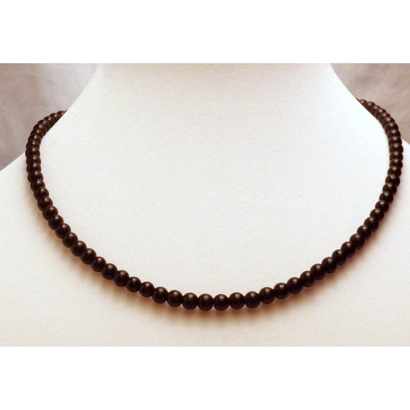 Obsidian necklace 1213 - celtic-mink-jewelry