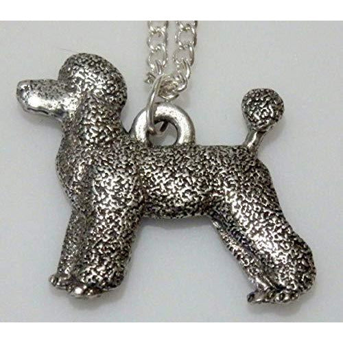 French Poodle Pet Clip Dog Necklace 1557 - celtic-mink-jewelry