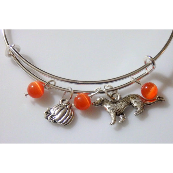 Ferret Pumpkin Bangle 1162 - celtic-mink-jewelry