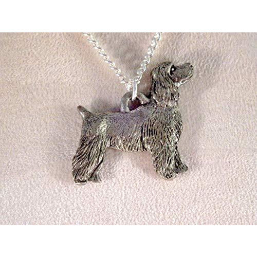 Cocker Spaniel Dog Necklace - Pet Clip 1536 - celtic-mink-jewelry