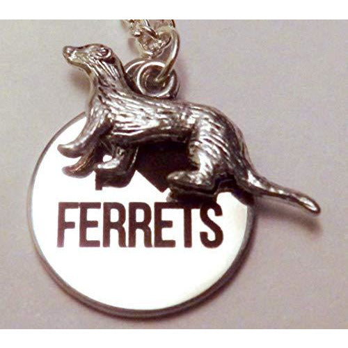 Ferret Lover Necklace 1390 - celtic-mink-jewelry