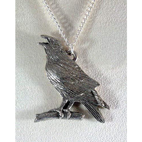 Crow or Raven Necklace 1678 - celtic-mink-jewelry