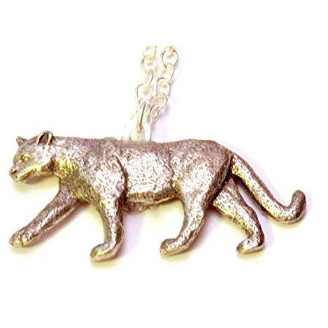 Mountain Lion Necklace 1366 - celtic-mink-jewelry