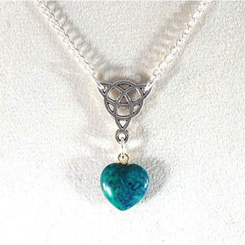 Green heart and Triquetra Necklace 1770
