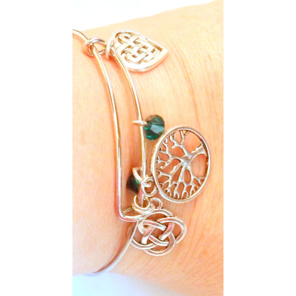 Beaded Celtic Bangle Bracelet 1132