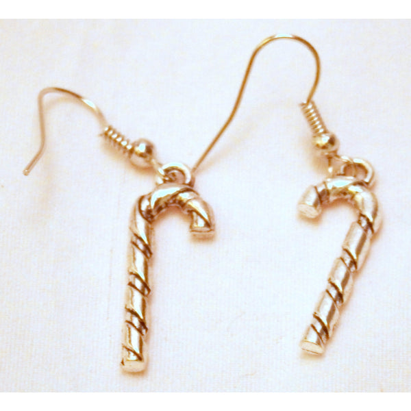 Candy Cane Earrings 1178 - celtic-mink-jewelry