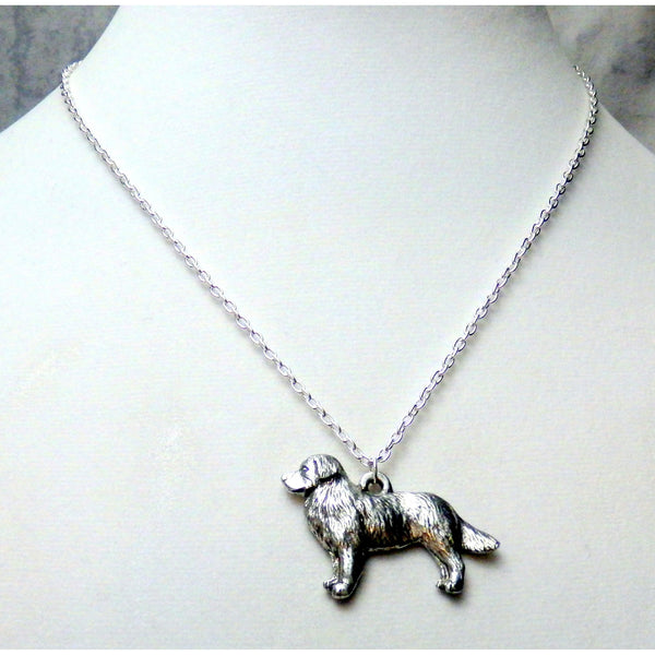 Border Collie Dog Necklace 1531 - celtic-mink-jewelry