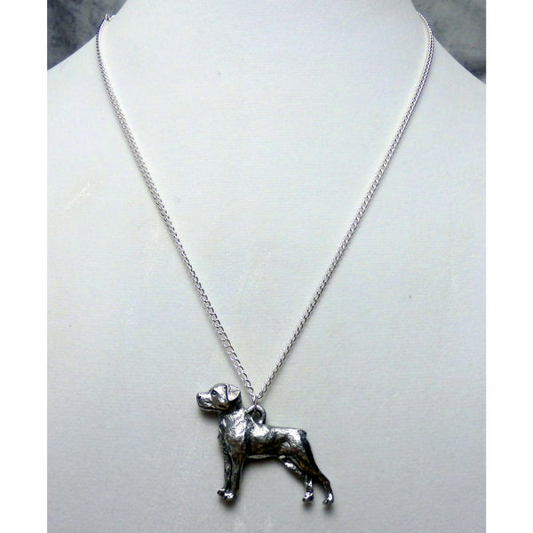 Rottweiler Dog Necklace 1558 - celtic-mink-jewelry