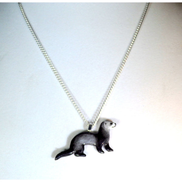 Artisan Black Sable Ferret Necklace 739 - celtic-mink-jewelry