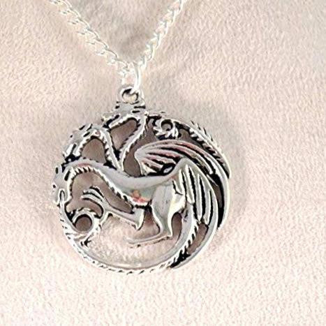 3 Headed Dragon Necklace 1607 - celtic-mink-jewelry
