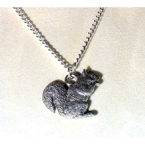 Squirrel Necklace 755 - celtic-mink-jewelry