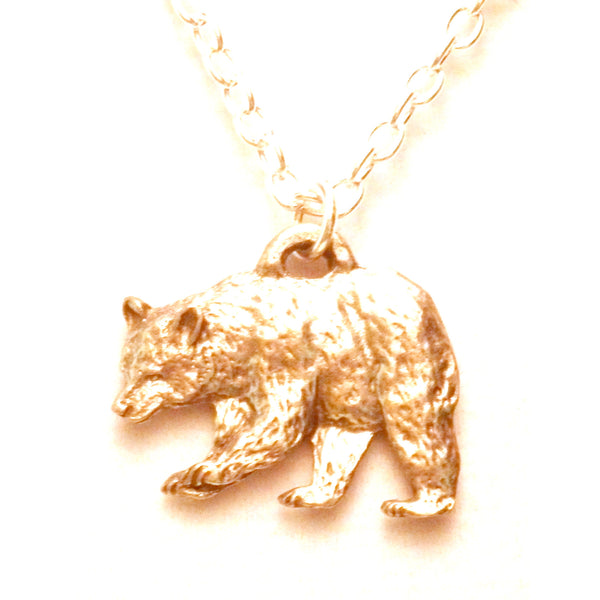 Fine Pewter Black Bear Necklace 502
