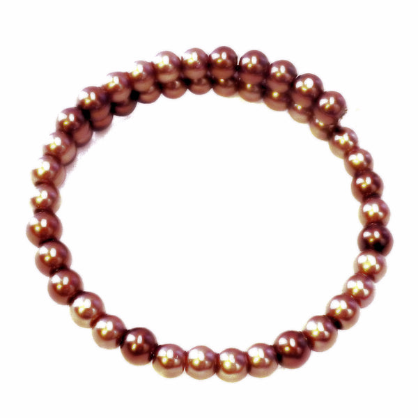 ManagerChocolate Glass Bead Bangle Bracelet