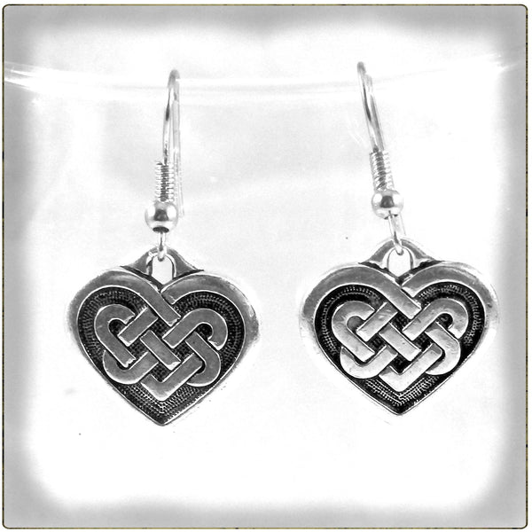 Celtic Knotwork Heart Earrings 1724