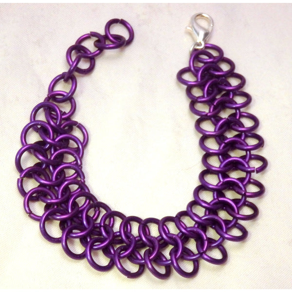 Purple European 4 In 1 Chain Mail Bracelet 1272
