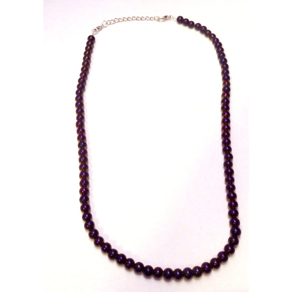 Purple Iris Glass necklace  1360