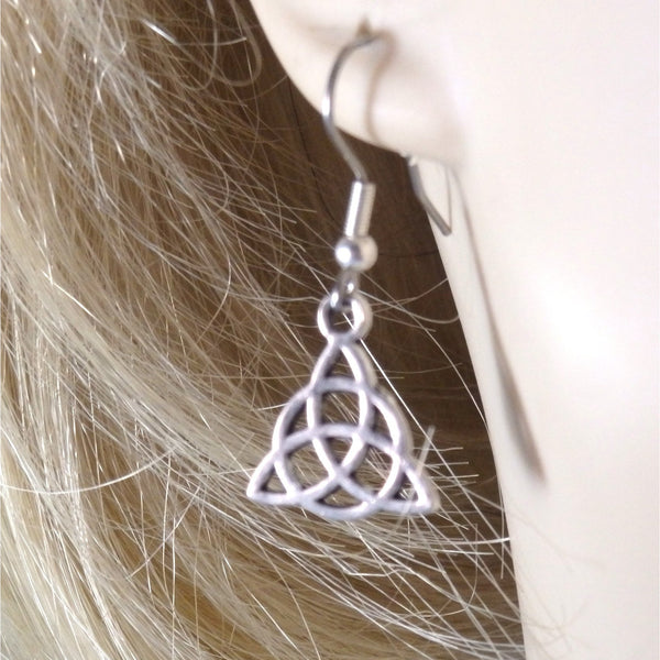 Small Celtic Trinity or Triquetra Earrings  1743