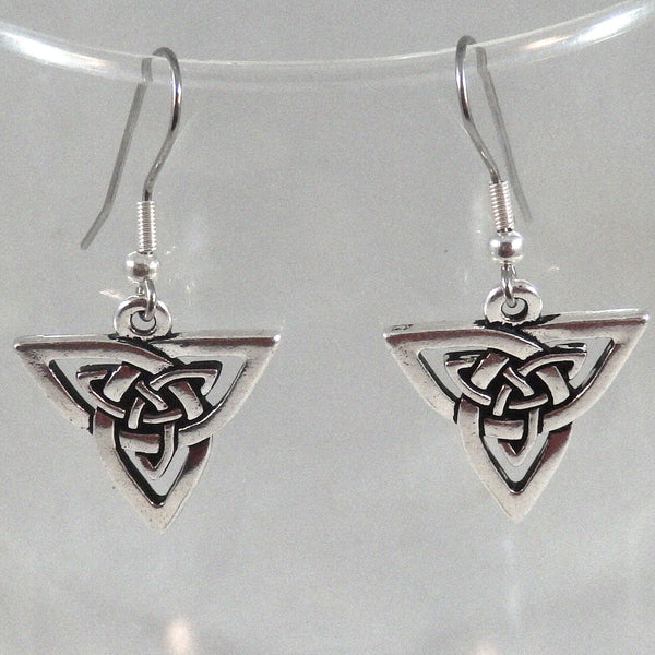 Celtic Triangle Knotwork Earrings 1745
