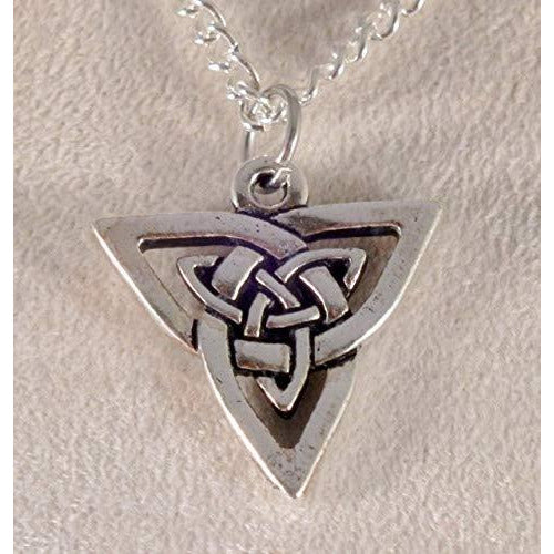 Small Celtic Triangle Knotwork Necklace 1520 - celtic-mink-jewelry
