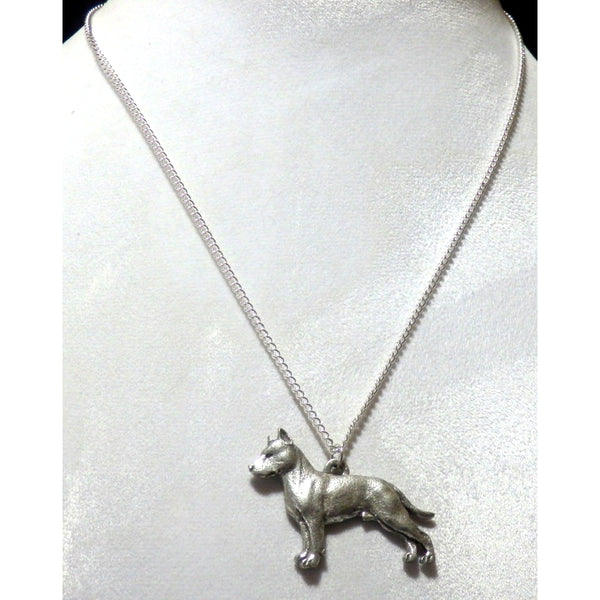 American Staffordshire Terrier or Amstaff Dog Necklace 625 - celtic-mink-jewelry