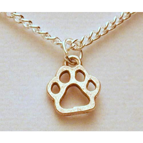 Open Paw Print Necklace 1388 - celtic-mink-jewelry