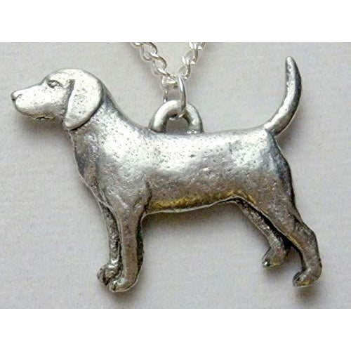 Beagle Dog Necklace 1530 - celtic-mink-jewelry