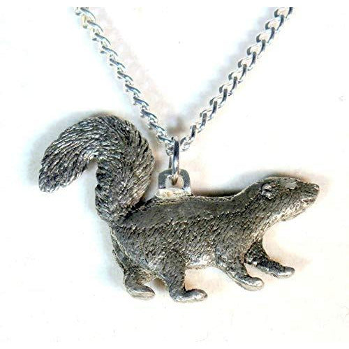 Pewter Skunk Necklace 704 - celtic-mink-jewelry