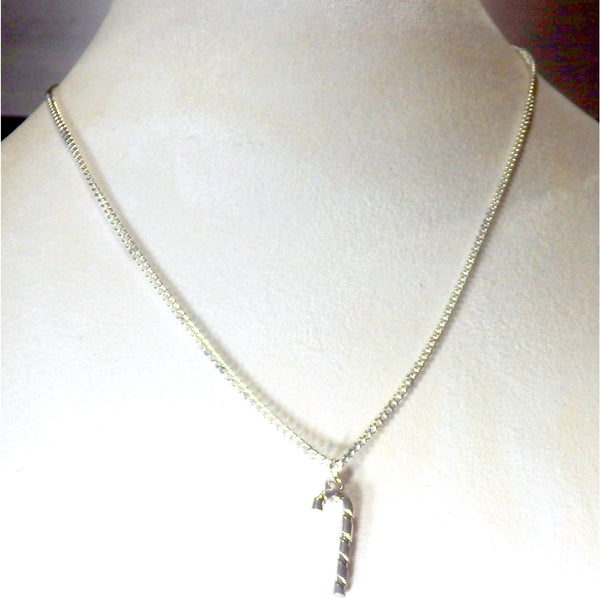 Candy Cane Necklace 1482 - celtic-mink-jewelry