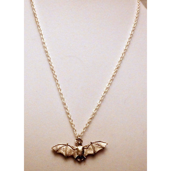Bat Necklace 678a - celtic-mink-jewelry