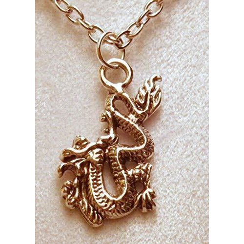 1 Inch Asian/Chinese Fire Breathing Dragon Necklace 715 - celtic-mink-jewelry